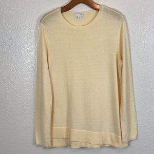 J.Jill ribbed knit asymmetrical hem sweater